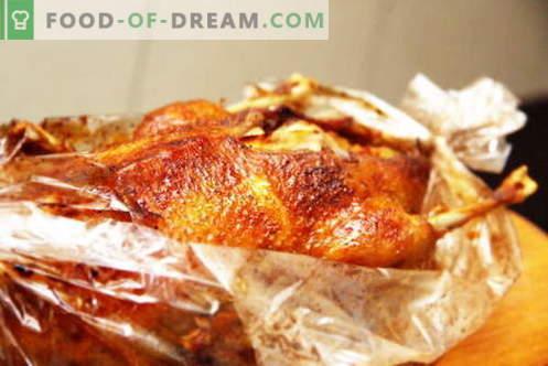 Pīle piedurknē - labākās receptes. Kā pareizi un garšīgi pagatavot pīli piedurknē.