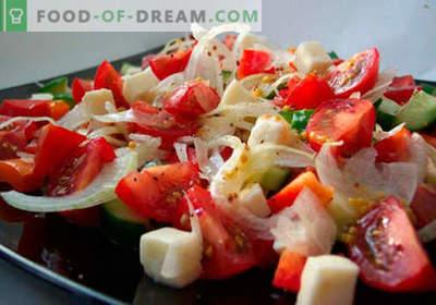 Svaigie dārzeņu salāti ir labākās receptes. Kā pareizi un garšīgi pagatavot salātus no svaigiem dārzeņiem.