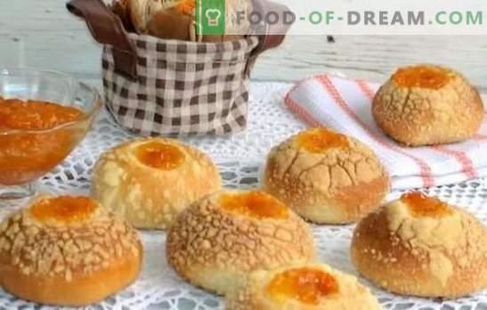 Tējas kūkas - cepšana ar mīlestību! Aromātisku un gaisīgu kūku varianti tējai uz ūdens, kefīra, krējuma un piena.