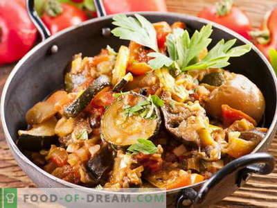 Baklažānu Saute - labākās receptes. Kā pareizi un garšīgi sagatavot baklažānu sautē.