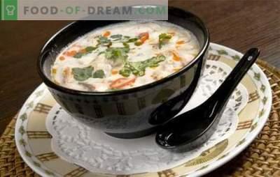 Kokosriekstu piena zupa ir garšas spēle! Receptes dažādām zupām ar kokosriekstu pienu eksotiskai ēdienkartei