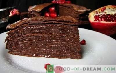 Šokolādes kūka uz kefīra - spilgta garša! Receptes gardiem kefīra kūkām ar sviestu, olu krēmu un sviesta krējumu