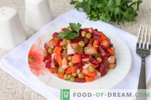 Vinaigrets - garšīgs, apmierinošs, ekonomisks: tikai 22 rubļi 4 porcijām