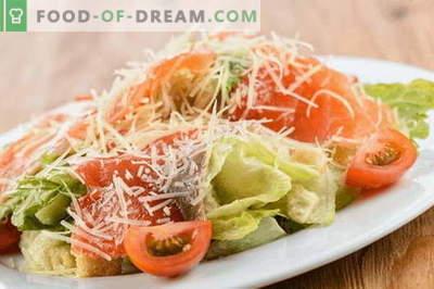 Salāti ar lašiem un sieru - pareizās receptes. Ātri un garšīgi gatavojiet salātus ar lasi un sieru.