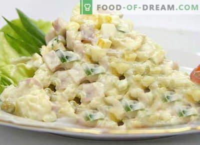Ledus salāti - labākās receptes. Kā pareizi un garšīgi gatavot Iceberg salātus.