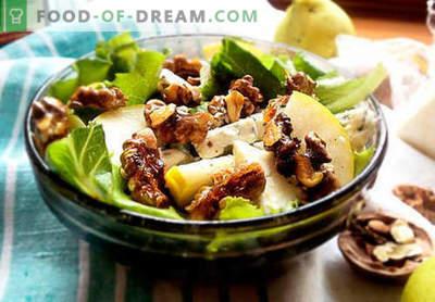 Salāti ar bumbieriem - piecas labākās receptes. Kā pareizi un garšīgi salāti ar bumbieriem.