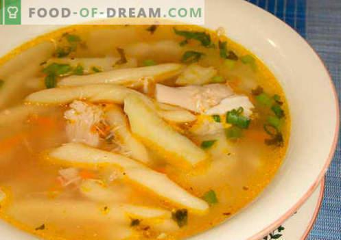 Супа от макаронени изделия - доказани рецепти. Как правилно и вкусно да се готви супата с паста.