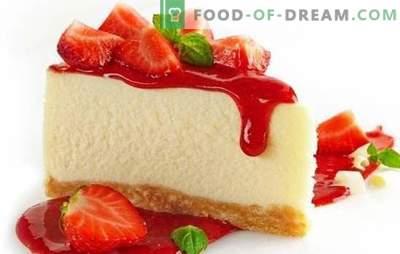 Dekoracja stołu - kolorowy sernik truskawkowy. Serniki deserowe z truskawkami: gotowanie na ciepło i zimno