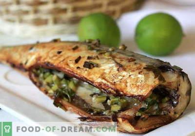 Makrele krāsnī - labākās receptes. Kā pagatavot makreles cepeškrāsnī ceptajā folijā.