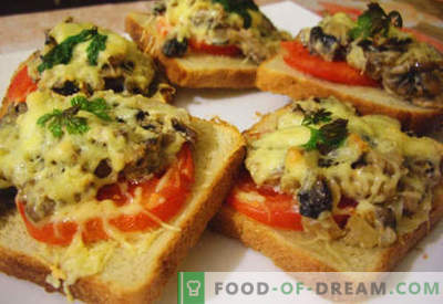Karstās sviestmaizes ar desu, sieru, olu, tomātiem ir labākās receptes. Kā pagatavot karstās sviestmaizes krāsnī, pannā un mikroviļņu krāsnī.
