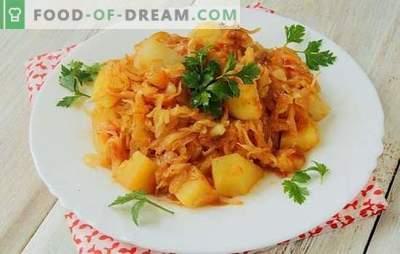 Kāpostu sautējums ar kartupeļiem un malto gaļu - kombinācija tiem, kas vēlas ēst. Klasisks dārzeņu sautējums steigā!