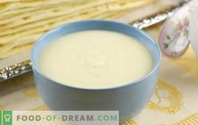 Custard zonder melk is een economische optie! Recepten voor custards zonder melk met koffie, cacao, gecondenseerde melk, caramel