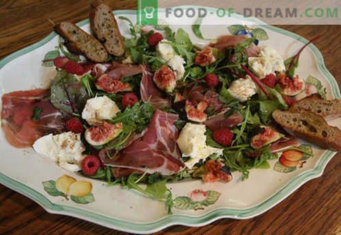 Mozzarella salāti - apstiprinātas receptes. Kā pagatavot salātus ar mozzarellu.