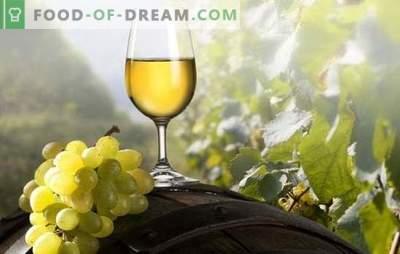 Baltais vīns mājās: īstiem gardēžiem. Baltā vīna receptes mājās: vīnogas, ķiršu plūmes, ērkšķogas
