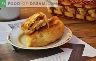 Kāpostu pīrāgi - krievu ātrā ēdināšana soli pa solim. Mīklas veidi kāpostu pīrāgi - soli pa solim receptes un gatavošanas noslēpumi