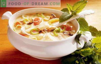 Garšīgas dārzeņu zupas recepte - pareizas uztura pamatā. Izvēle no labākajām receptēm gardiem dārzeņu zupiem no dažādiem dārzeņiem