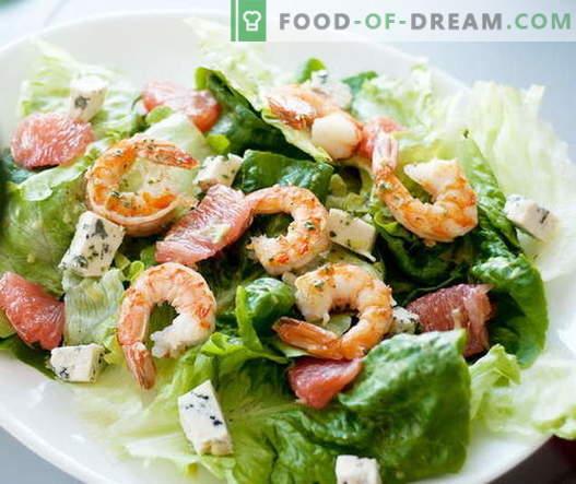 Garneļu salāti - labākās receptes. Kā pareizi un garšīgi gatavot garneļu salātus.
