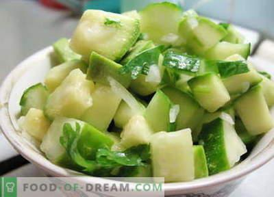 Cukini salāti - labākās receptes. Kā pareizi un garšīgi sagatavot cukini.