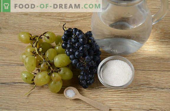 Komposta no vīnogām: kā pareizi gatavot? Vienkārša vīnogu kompota foto-recepte soli pa solim