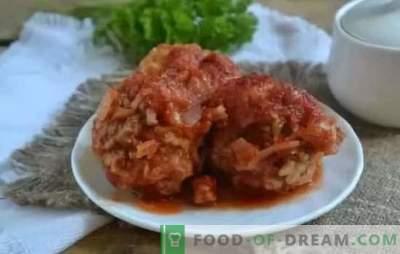 Gaļas bumbiņas tomātu mērcē: soli pa solim receptes, gatavošanas noslēpumi. Bagātīgas vakariņas steigā - gaļas bumbas receptes tomātu gaļas un vistas mērcē
