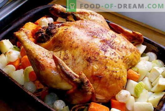 Vistas cepeškrāsnī - labākās receptes. Kā gatavot vistas cepeškrāsnī.