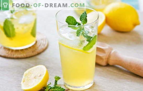 Bautura de lămâie - energie și vitamine într-un pahar. Rețete de băuturi pe bază de lămâie: limonadă rece sau perfuzie caldă