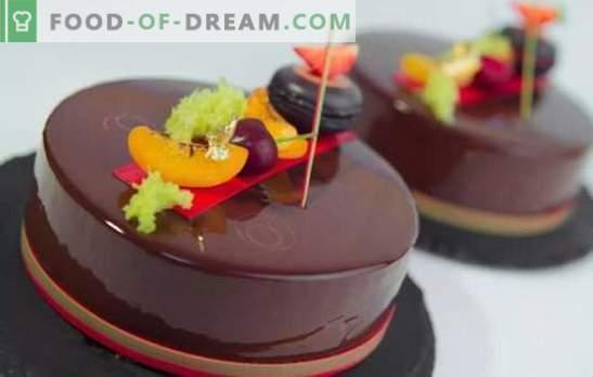 Mousse kūka ar spoguļa apledojumu ir spīdošs deserts! Garšīgu putu kūku gatavošana ar spoguļa glazūru