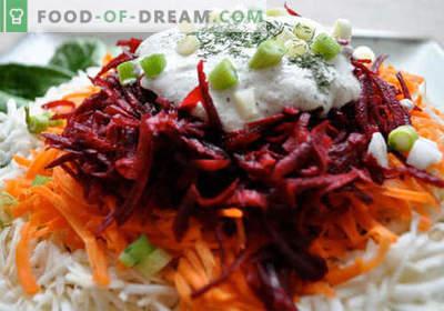 Biešu un burkānu salāti - labākās receptes. Kā pareizi un garšīgi sagatavot biešu un burkānu salātus.