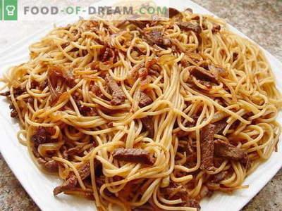 Makaroni ar gaļu - labākās receptes. Kā pareizi un garšīgi pagatavot makaronus ar gaļu.