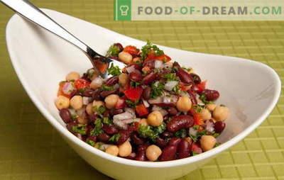 Receptes garšīgiem un vienkāršiem salātiem ar konservētām pupiņām un citiem produktiem. Ātra gatavošana: vienkāršas pupiņu salāti