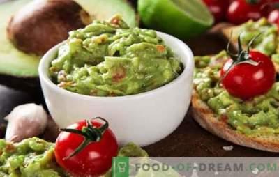 Molho de Abacate Guacamole: Receitas para Suplementos Mexicanos! Receitas de molho de guacamole de abacate novas e clássicas, lanches com ele