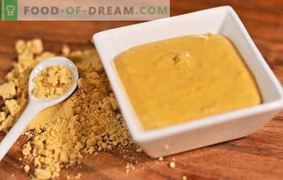 Īpašas receptes sinepju pulvera izgatavošanai mājās. Sinepes no mājas pulvera: garšvielu garšvielu noslēpums