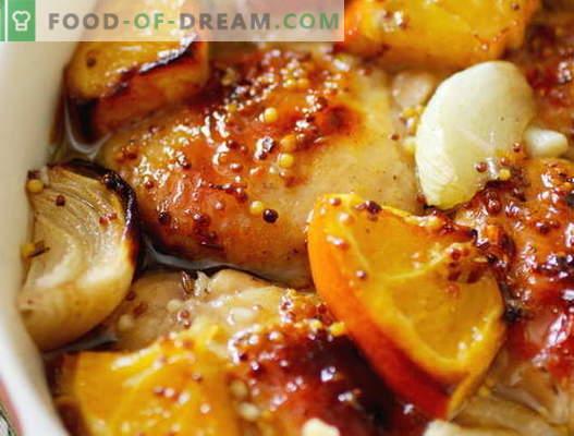 Vistas gaļa ar apelsīniem - labākās receptes. Kā pareizi un garšīgi pagatavot vistas ar apelsīniem