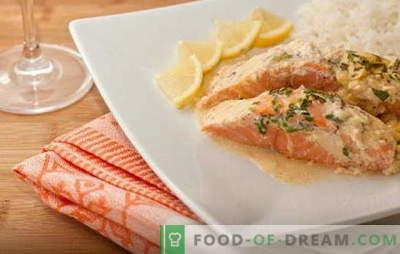 Garšīga forele krējumā: maiga, sulīga, garšīga. Vienkāršas un garšīgas receptes forelei krējumā un dažādās mērcēs
