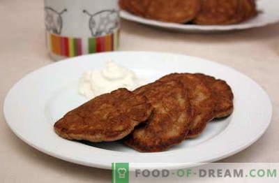 Fritters ir labākās receptes. Kā pareizi un garšīgi sagatavot aknu pankūkas.
