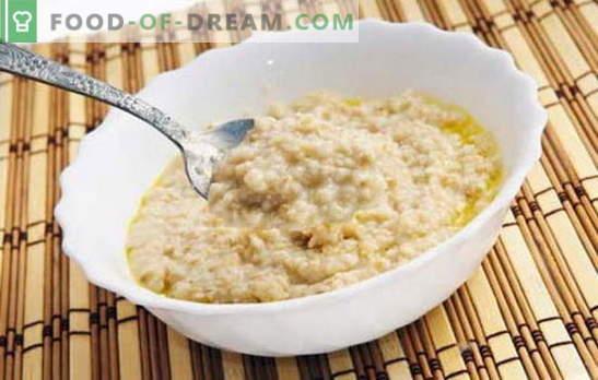 Comment faire cuire des flocons d'avoine pour le rendre savoureux? Faire cuire la bouillie à l'eau, avec du lait, des raisins secs, de la citrouille, des pommes
