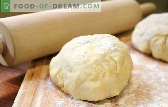 Pâte à pizza sans levure - sans glissement! Pâtes à pizza sans levure: sur crème sure, mayonnaise, kéfir et eau