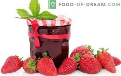 Erdbeergelee mit Gelatine, Pektin, Agar-Agar. Erdbeergelee mit Äpfeln oder Himbeeren: Dessert oder Vorbereitung auf den Winter
