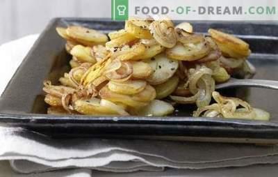 Pommes de terre frites aux oignons - intemporelles! Recettes de pommes de terre frites avec oignons, champignons, viande, foie, bacon