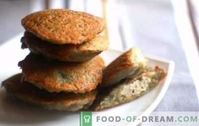 Pašdarināts pankūkas vakariņas ar maltu gaļu - ātrāk nekā jūs domājat. Ruddy pankūkas ar malto gaļu, sieru un dārzeņiem