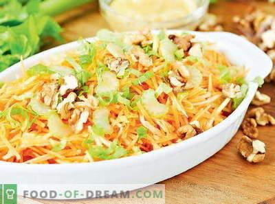 Vitamīnu salāti no kāpostiem - labākās receptes. Kā pareizi un garšīgi sagatavot vitamīna salātus no kāpostiem.