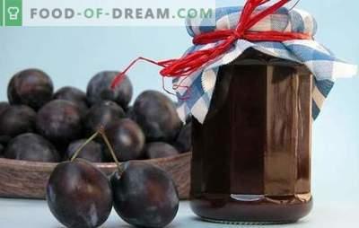 Snoei jam - een delicatesse met een subtiele noot! Bewezen recepten voor pruimen die vastlopen op het fornuis, in de oven en zonder