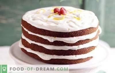 Kūkas ar krējumu: vienkāršas un pierādītas receptes. Kāda veida mīklas tiek izmantotas krējuma kūka