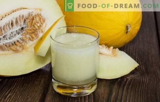 Melones dzērieni ziemai - garšīgi un neparasti, dažādas iespējas. Krāsa uz melones kompota ziemai - obligāta!