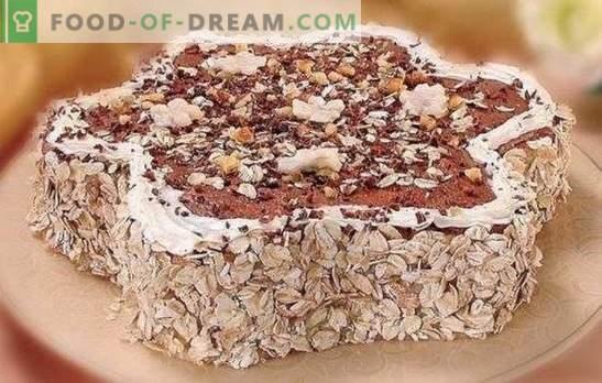 Kūka no auzu cepumiem steigā! Dažādu kūku gatavošana no auzu cepumiem: ar banānu, ķiršu, biezpienu, želatīnu, krēmveida bruliju
