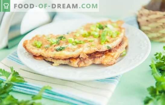 Vistas brizols - restorāna ēdiens mājas izvēlnē. Vistas pildījuma un omelets sagatavošanas vistas gaļas cepšanai īpašības