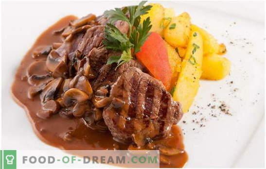 Hautatud liha seentega: toitumisspetsialistide ja kogenud kokkade arvamus. Hautatud liha ja seente retseptide nõuetekohane ettevalmistamine