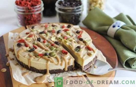 Neapstrādāts ēdiens - salds ar labu. Receptes neapstrādātām pārtikas kūkām, kuru pamatā ir rieksti un žāvēti augļi