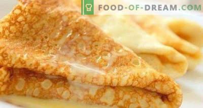 Mīkla pankūkām ar pienu, raugu, klasiku, skābu, sausu pienu