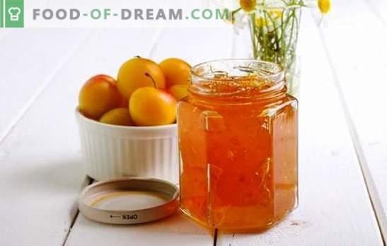 Ķiršu plūmju ievārījums ar apelsīnu aromātu citrusaugļu aromātu! Receptes dažādiem ķiršu plūmju ievārījumiem ar apelsīniem